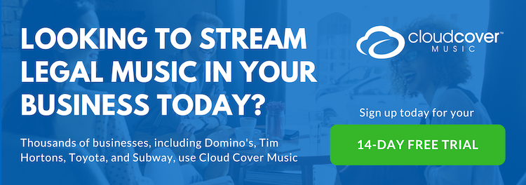 Get started with Cloud Cover Music and play the best music for restaurants in your business today.