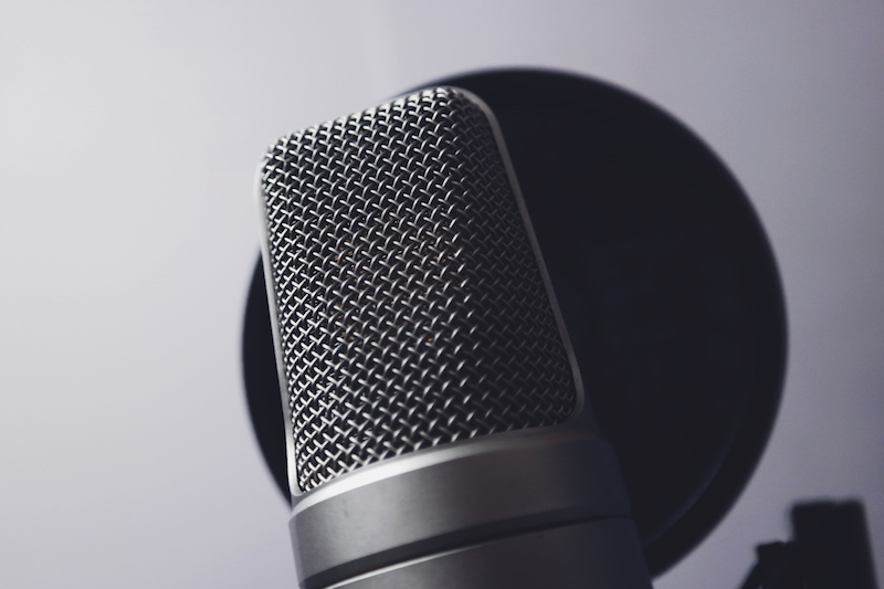 Microphone used to record Cloud Cover Music promotional messages